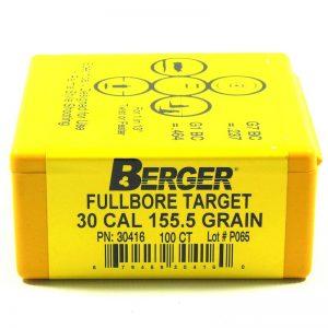 BERGER FULLBORE TARGET – 30 CAL 155.5GR /100