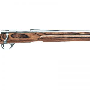 HOWA SHORT ACTION HEAVY BARREL – STAINLESS WITH NUTMEG THUMBHOLE STOCK